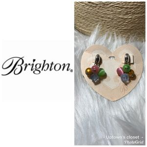 "Brighton earrings NWT Mimosa"" beads w tin post"